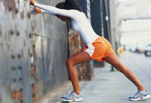 wall-stretch-pre-elliptical-workout